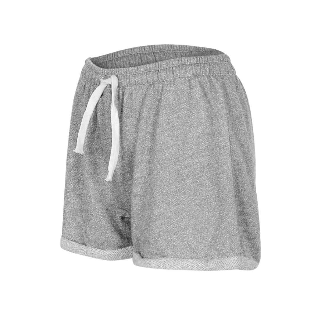 a603598e4a Amazon.com: BSGSH Women Shorts Casual Athletic Hot Shorts Lounge Sweat Shorts  Elastic Waist: Clothing