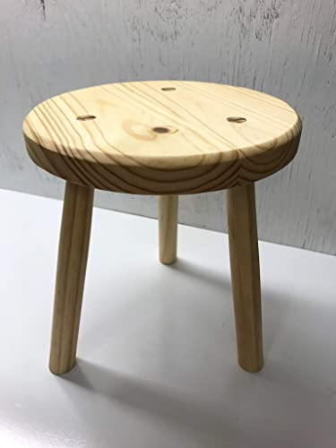 Sensational Wood Stool Sitting Stool Kitchen Stool Pine Stool Milking Stool Plant Stand 12 Round X 12 Tall Gamerscity Chair Design For Home Gamerscityorg