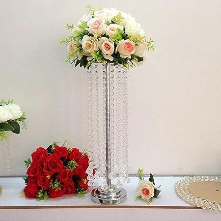Everbon Jarrones altos para flores (metal, elegantes, para boda ...