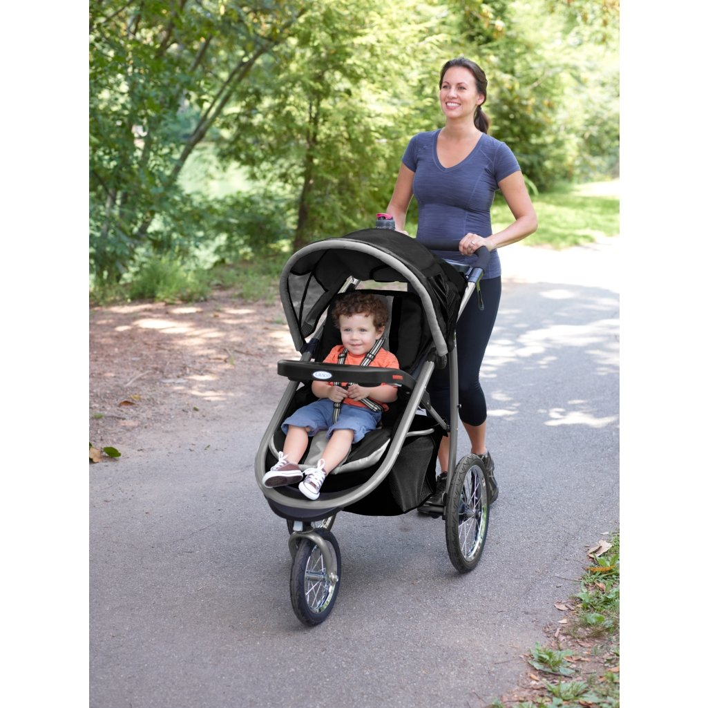 Graco FastAction Fold Jogger Click Connect Travel System, Gotham (Discontinued by Manufacturer) by Graco (Image #3)