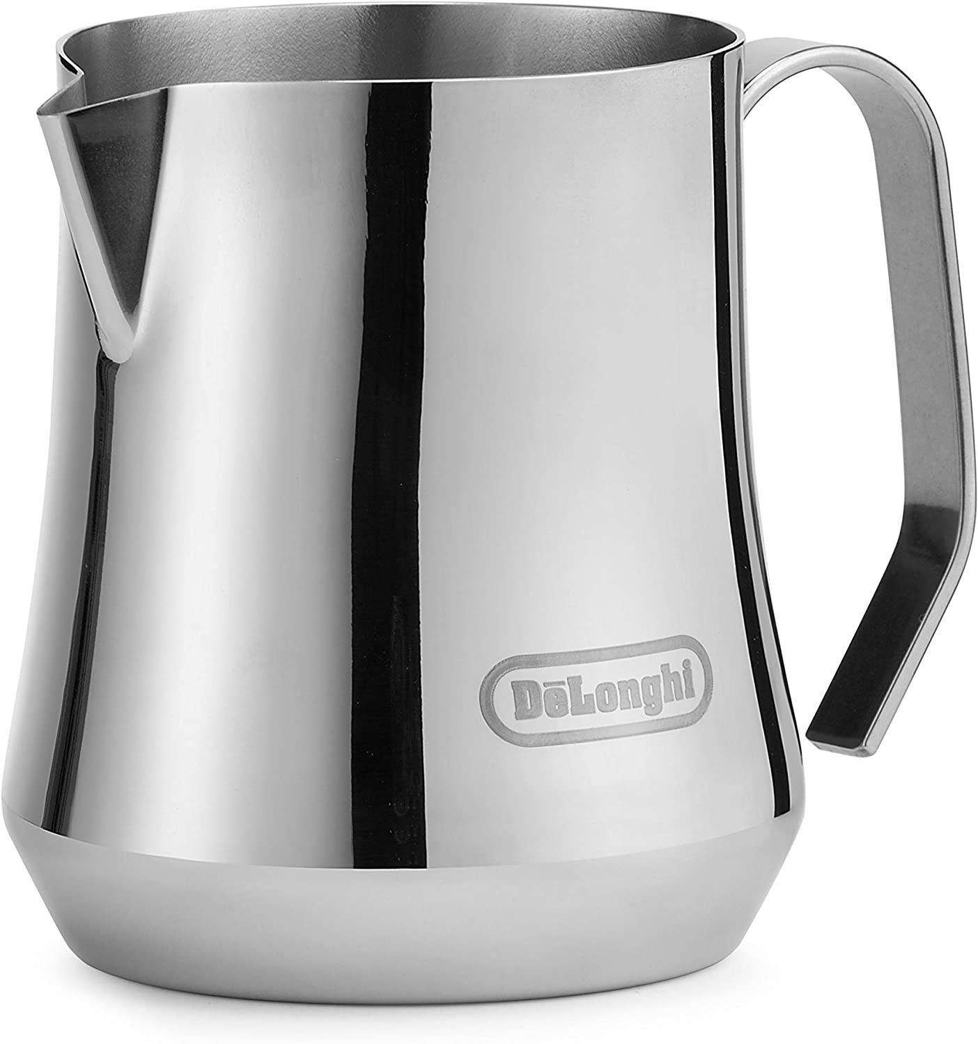 De'Longhi Milk Frothing Pitcher, Stainless Steel, 17 ounce (500 ml), Barista Tool, Frother Jug for Espresso Machine Coffee Cappuccino Latte Art, DLSC069