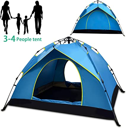 Outdoor Instant Pop Up Tent 4-5 Person Family Portable Waterproof Camping Tents