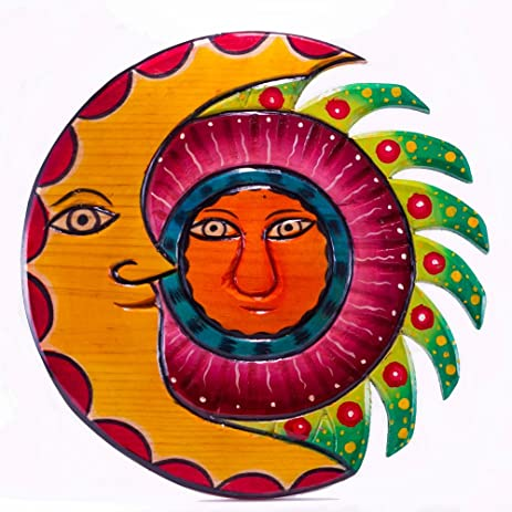 Amazon.com: Sun Moon Hangings, Wall Art and Wood Decor Perfect for ...