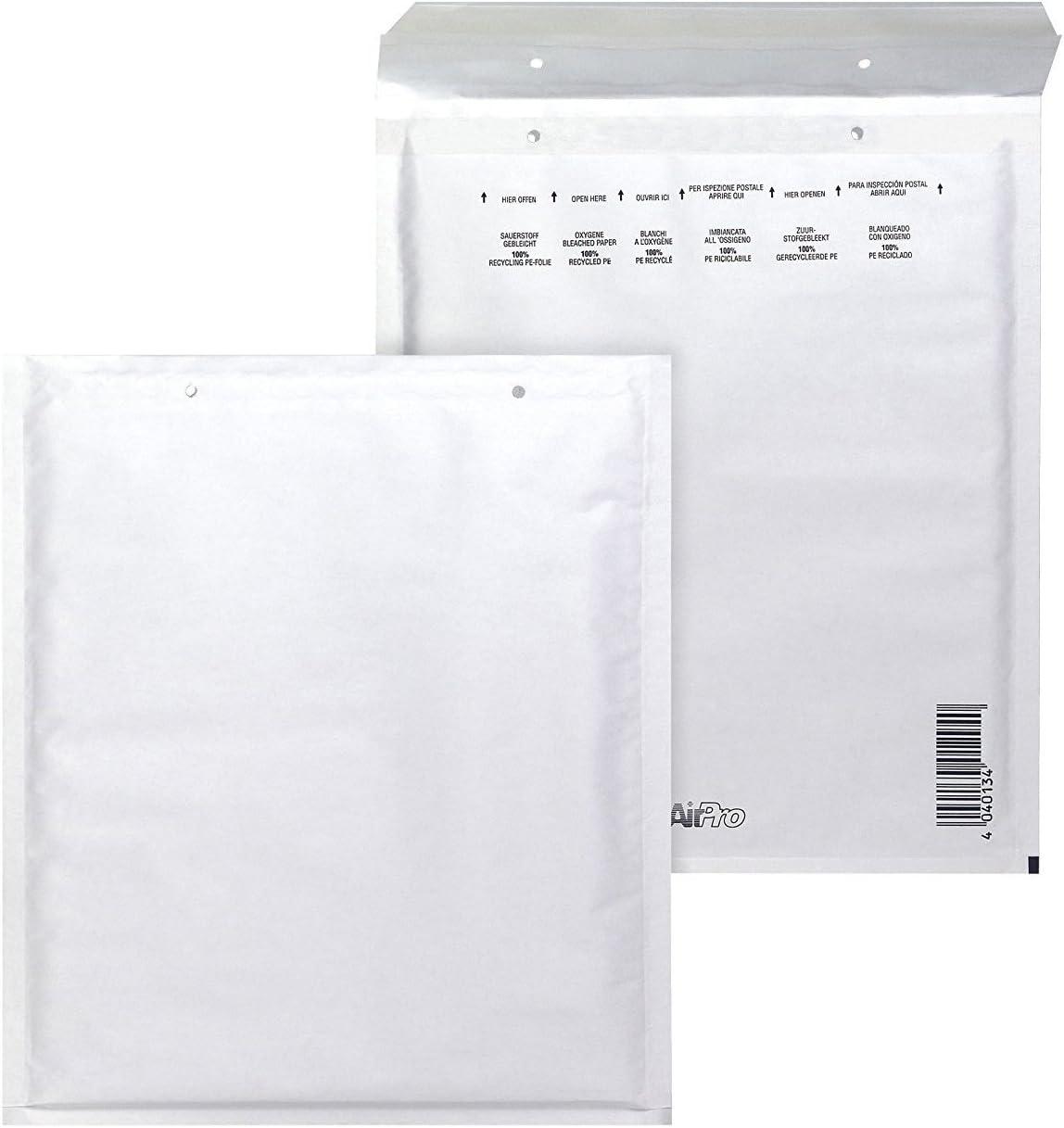 Bong AirPro - Pack de 100 bolsas acolchadas, 150 x 215 mm, color blanco