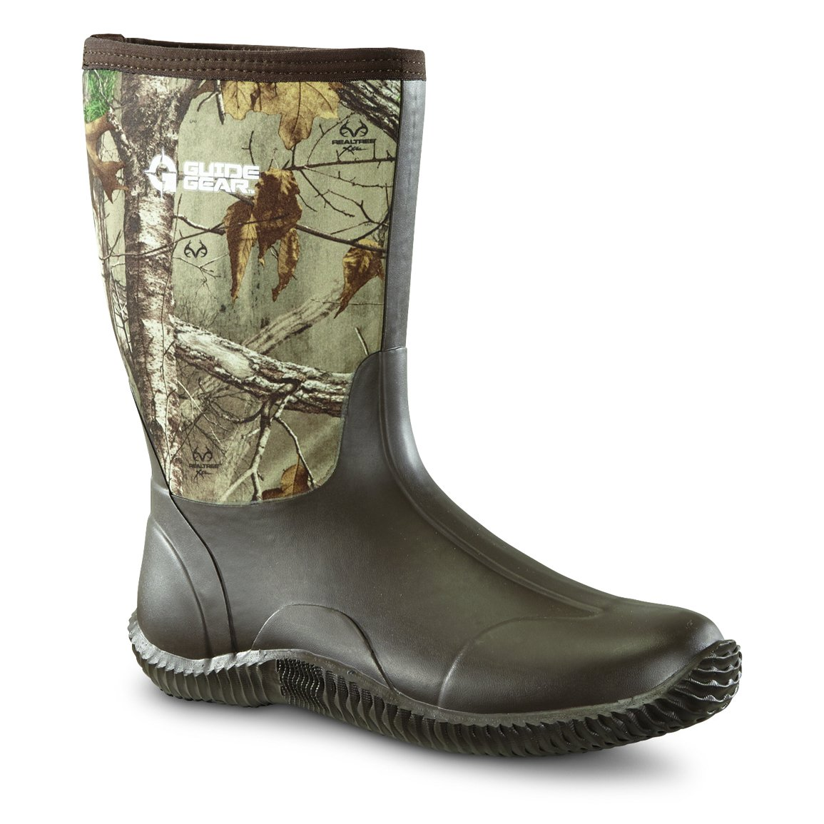 Guide Gear Men's Mid Camo Bogger Rubber Boots by Guide Gear