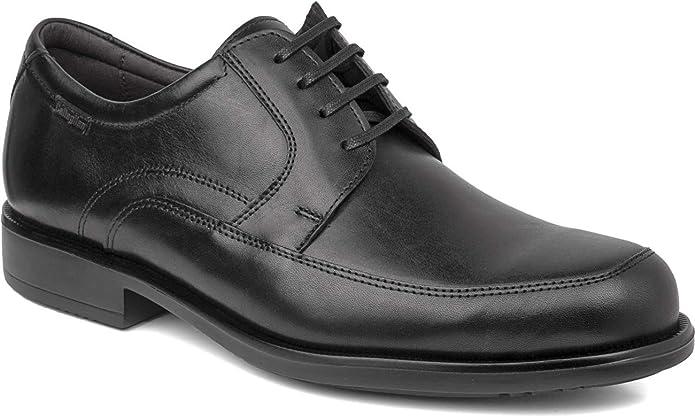 Negro Primavera//Verano Callaghan 77903 Zapatos Cordones//Zapatos de Vestir bajo 2-4 cm Redonda Piel