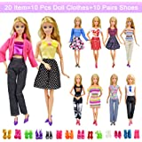 20 Items 10 Pcs Fashion Handmade Doll Clothes...