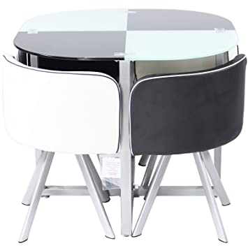 Space Saving Dining Furniture On Charles Jacobs Premium Space Saving Dining Table Set With Cushioned Seats Choice Of Colours