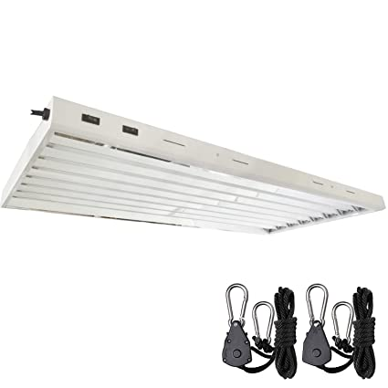 Amazon.com : DLS T5 HO Fluorescent Lamp Grow Lights Fixtures 4 ft 8 ...