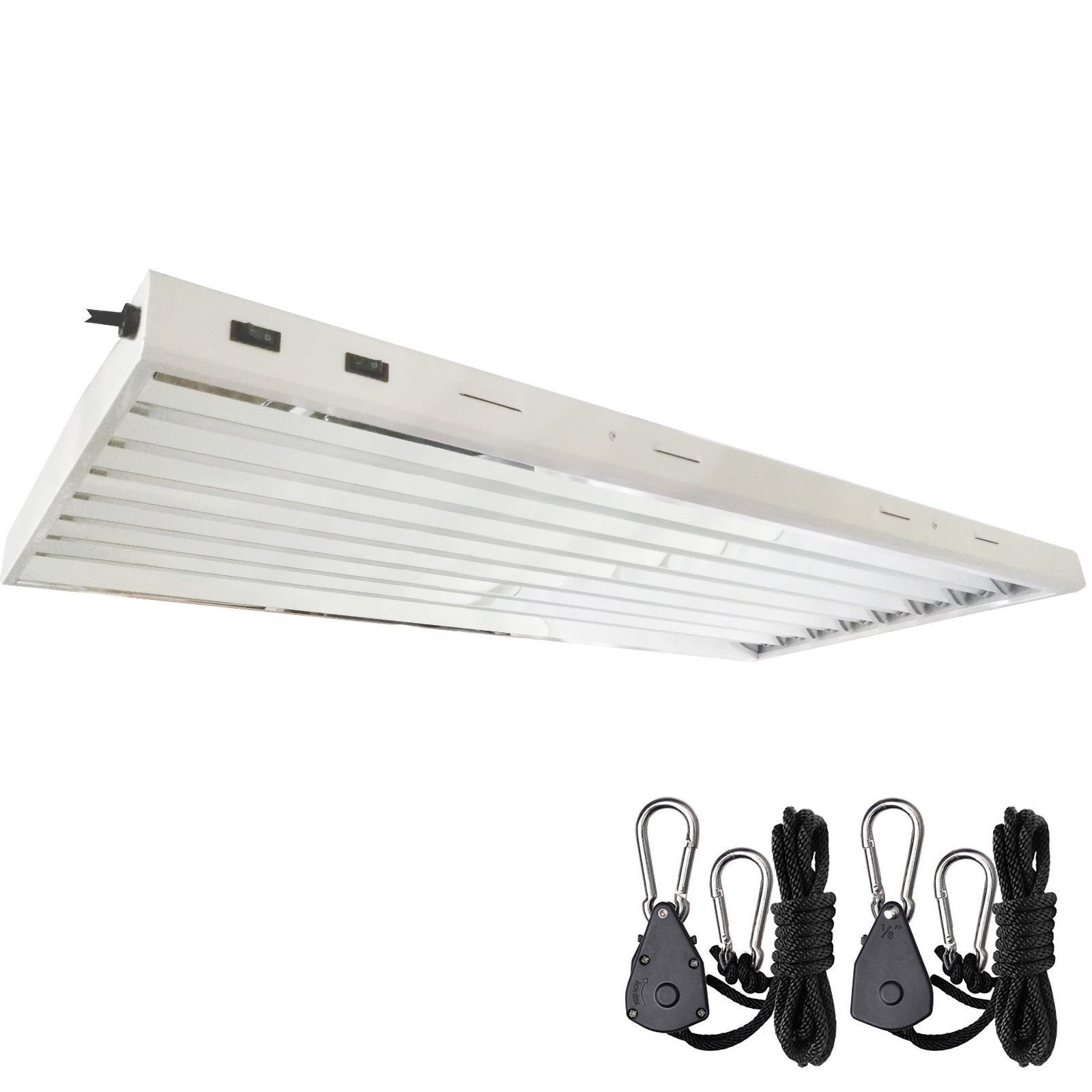 DLS T5 HO Fluorescent Lamp Grow Lights Fixtures 4 ft 8 Lamps Included (4FT 8 LAMPS)