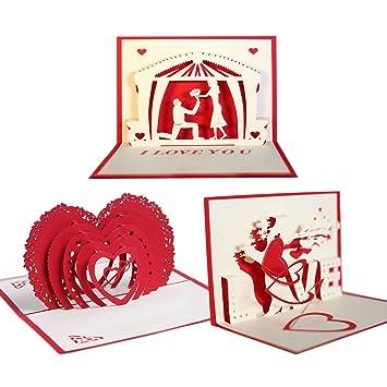 Pop Up Karten Beetest 3pcs 3d Papier Geschnitten Gefaltet Pop Up