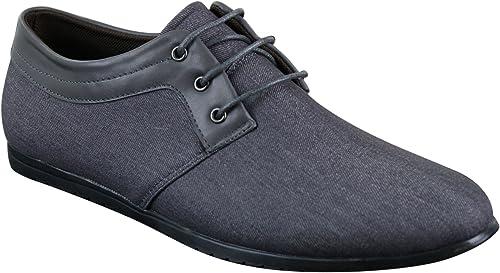 Mens Smart Casual Trainers Denim Shoes