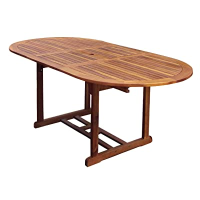 Bentley Garden - Grande table de jardin ovale en bois ...