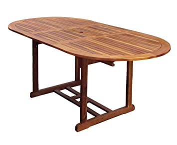 bentley garden grande table de jardin ovale en bois extensible - Grande Table Ovale