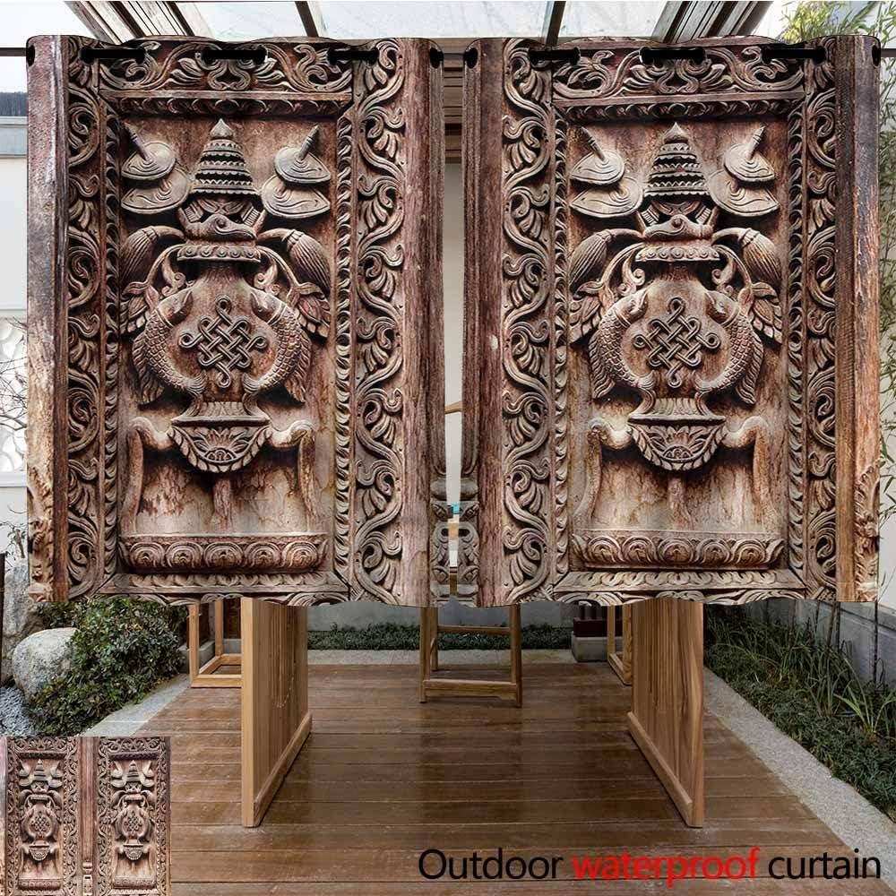 Sunnyhome - Cortina de Madera rústica para Ventanas y Puertas de Granero, con Ojales para el Dormitorio: Amazon.es: Jardín