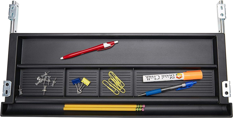 Mind Reader KEYBCON-BLK Supplies, Ergonomic Computer Platform, Adjustable Drawer Organizer, Black Under Desk Tray