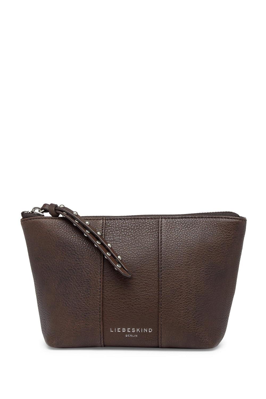 (リーベスキンドベルリン) Liebeskind Berlin ダブルダイレザーコスメティックバッグ Maine Double Dye Leather Cosmetic Bag (並行輸入品) B07F29NY6B グレー One Size