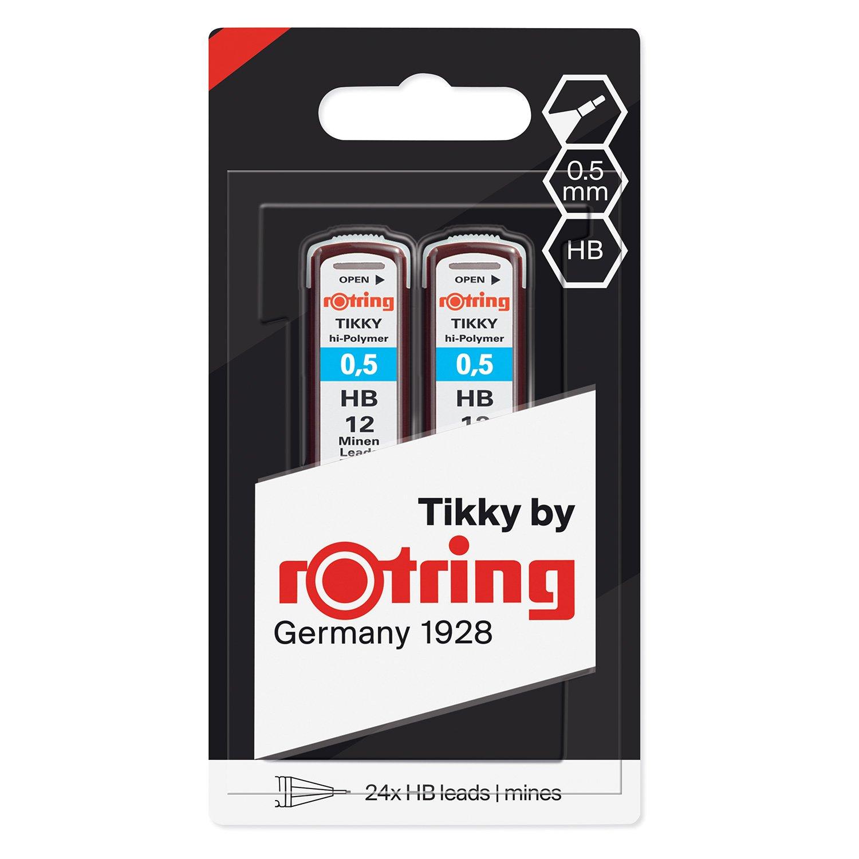 12 Leads Rotring Lead Refills Hi-Polymer for Fine Mechanical Pencils 0.50mm B
