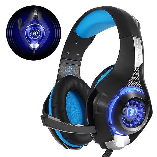Beexcellent GM-1 - Auriculares Gaming para PS4 PC, Cascos Ruido Reducción de Diademas