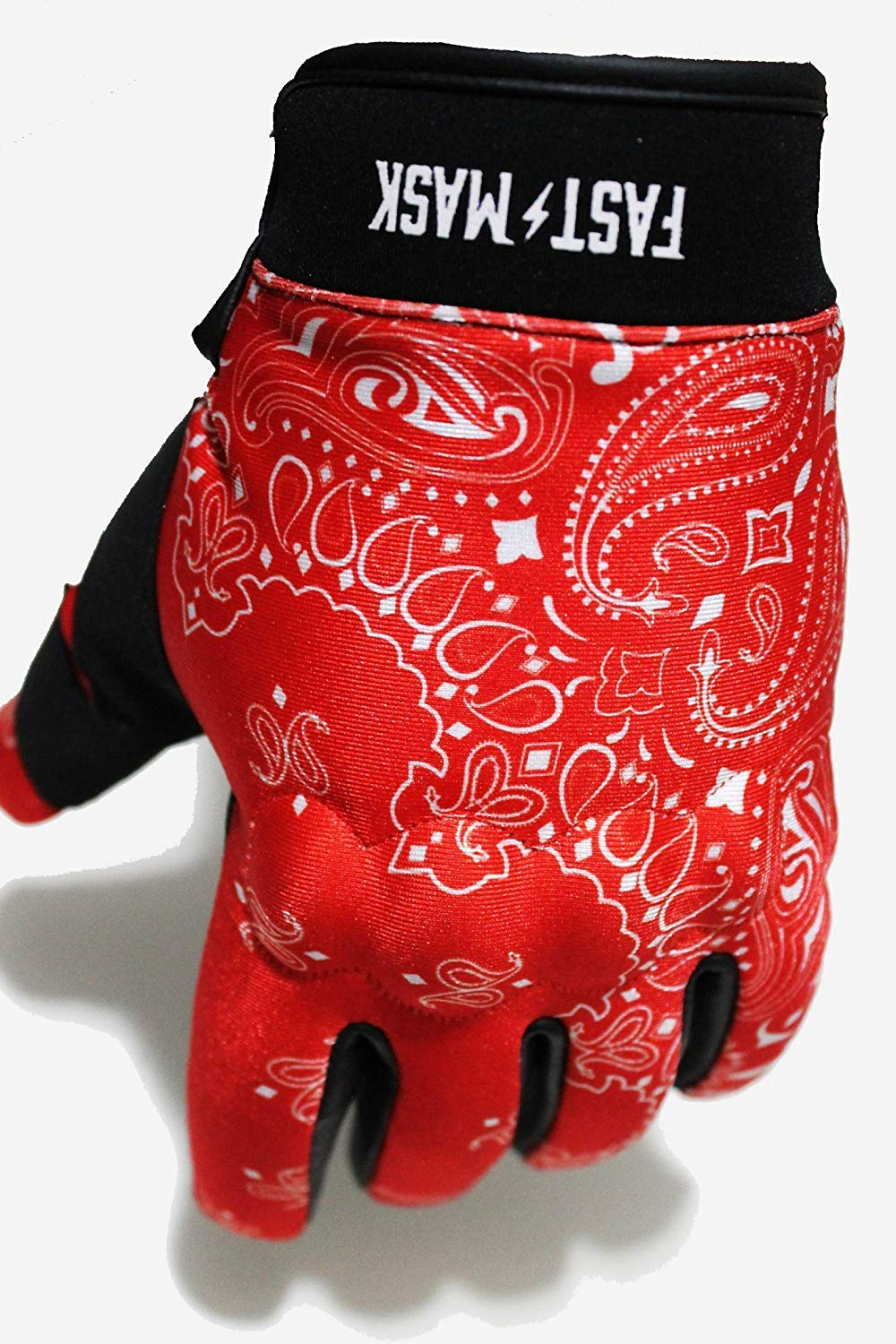Knuckle Protection Fast Mask Motorbike Glove Leather Reinforced Palm Motorcycle Gloves Riding Gloves Perfect as Cycling Gloves M, RED Mountain Bike Gloves