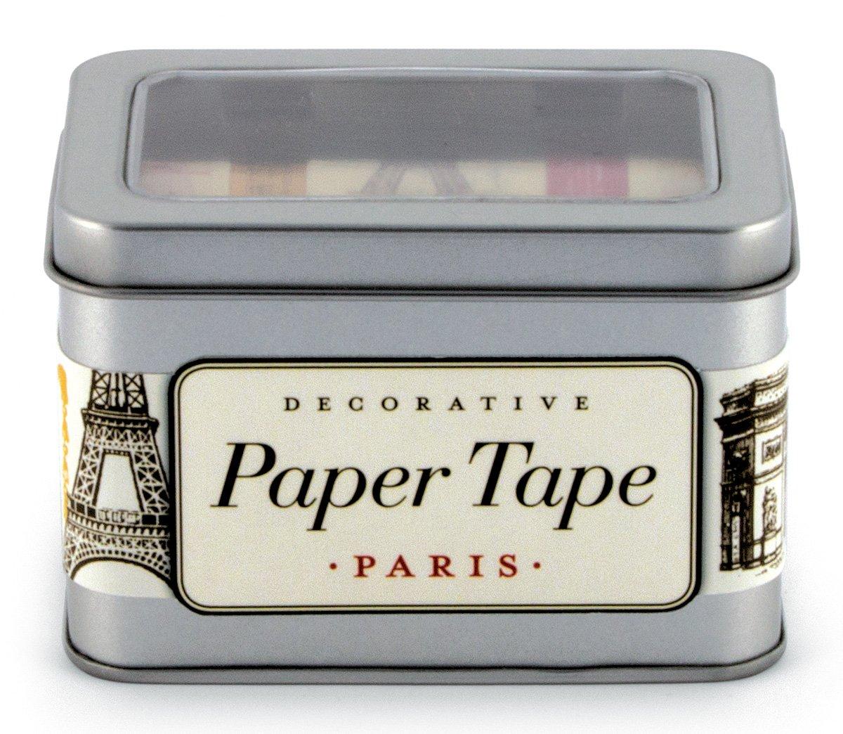Cavallini Paris Decorative Paper Tape 5-Assorted Rolls 16-Yard Per Roll Cavallini & Company PT/PAR Notecards Postcards