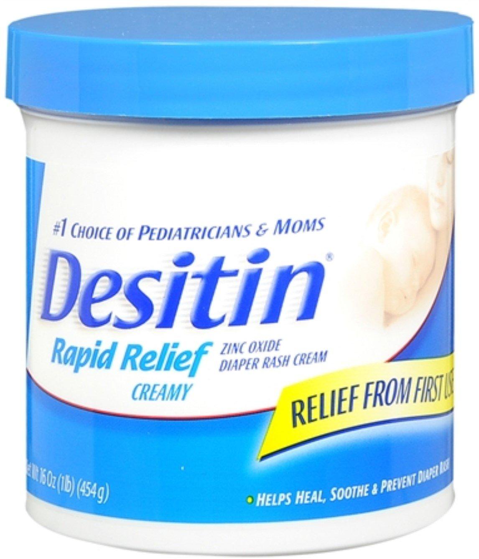 DESITIN Rapid Relief Diaper Rash Cream 16 oz (Pack of 7) by Desitin