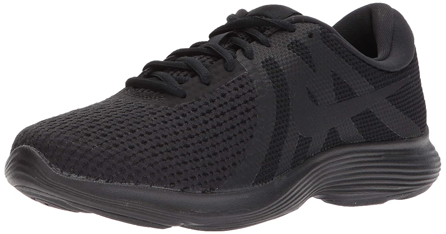 Black Black Nike Women's Revolution 4 Sneaker,