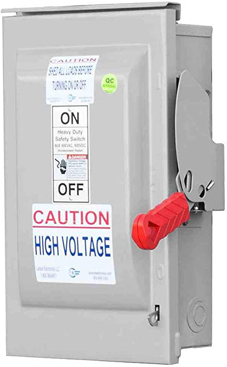 60 Amp Fusible Manual AC Disconnect Safety Switch - 600V AC - 3-Pole - -  Amazon.com