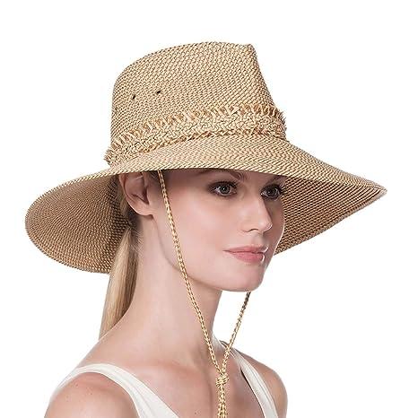 bc8b1c2cf9abe Amazon.com  Eric Javits Luxury Women s Designer Headwear Hat - Voyager -  Peanut  Clothing