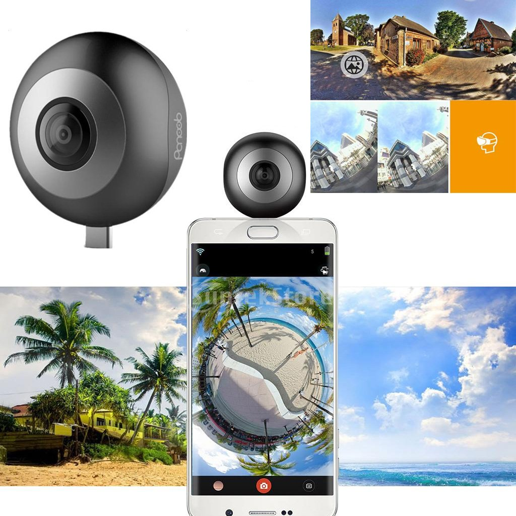 Dovewill Dual 210° Fisheye Lens HD VR Camera for Android Phone Live Seamless Stitching Blank by Dovewill (Image #3)
