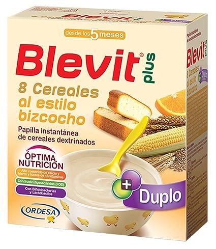 Blevit Plus Duplo 8 Cereales Al Estilo Bizcocho - Paquete de 2 x 300 gr -