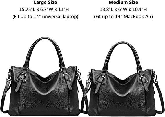 Women Genuine Leather Handbag Work Tote Shoulder Purse Crossbody Bag