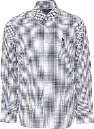 Ralph Lauren Luxury Fashion Hombre 712766318006 Blanco Camisa | Otoño-Invierno 19: Amazon.es: Ropa y accesorios