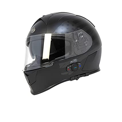 729d3c36 Amazon.com: TORC T14B Bluetooth Integrated Mako Full Face Motorcycle Helmet  With Graphic (Flag): Automotive
