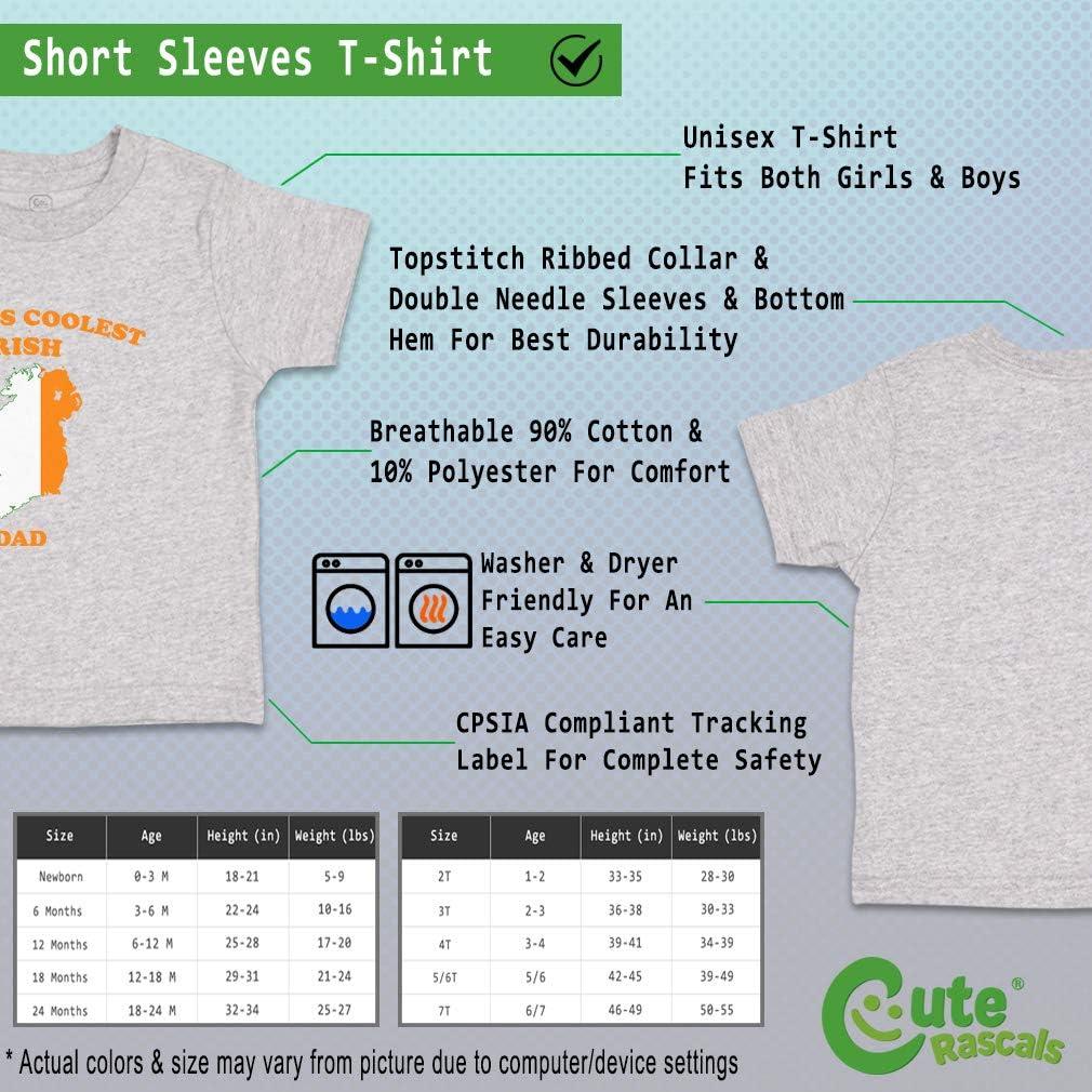 Custom Baby /& Toddler T-Shirt Worlds Coolest Irish Dad Cotton Boy Girl Clothes
