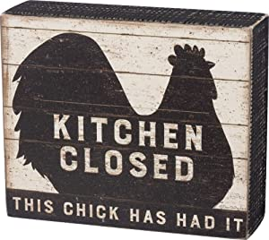 Primitives by Kathy 39386 Distressed Box Sign, Kitchen Closed