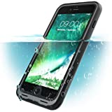 iPhone 8 Plus Case, i-Blason [Aegis] Waterproof Full-body Rugged Case with Built-in Screen Protector for Apple iPhone 7 Plus 2016 / iPhone 8 Plus 2017 Release (Black)