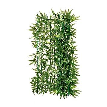 Balkon Sichtschutz Bambus Zuschneidbar Grun 3 X 1 M Amazon De
