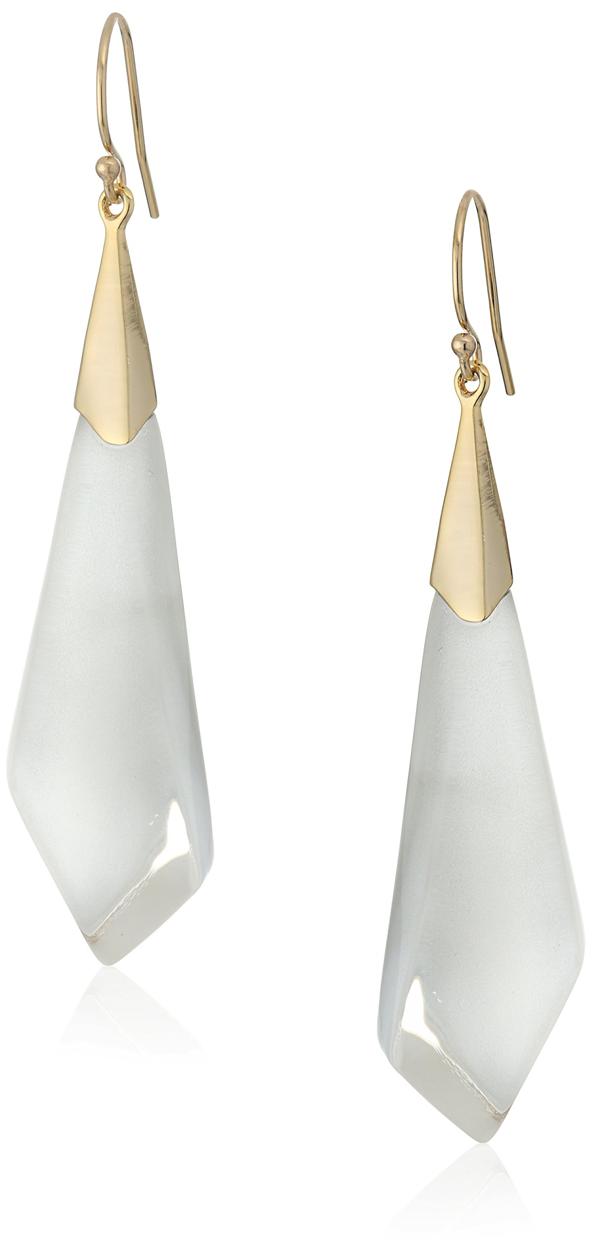 Alexis Bittar Silver-075 Faceted Wire Drop Earrings