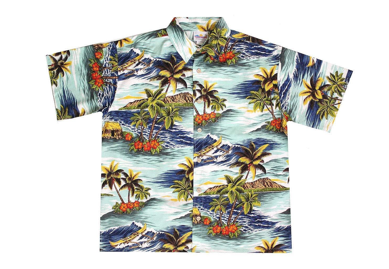 Wave Shoppe Mens Blue Mauna Loa Shirt