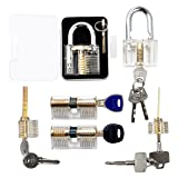 6pcs Transparent Practice Lock Set, Sopoby