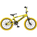 Rooster Big Daddy 18 BMX Yellow/Black with Spoke Wheels