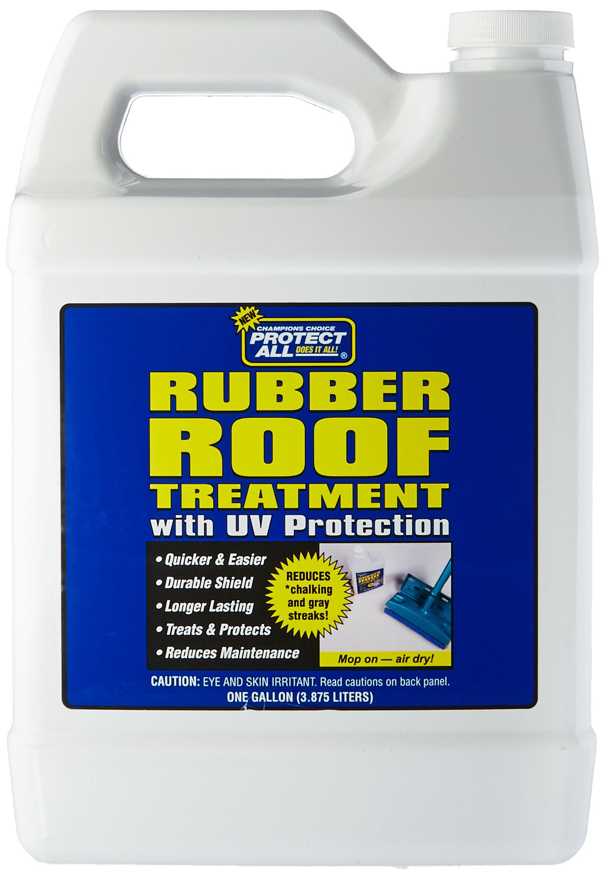 RV Rubber Roof Treatment - 1 gallon - anti-static, dirt repelling, and UV protectant -  Protect All 68128 by Thetford