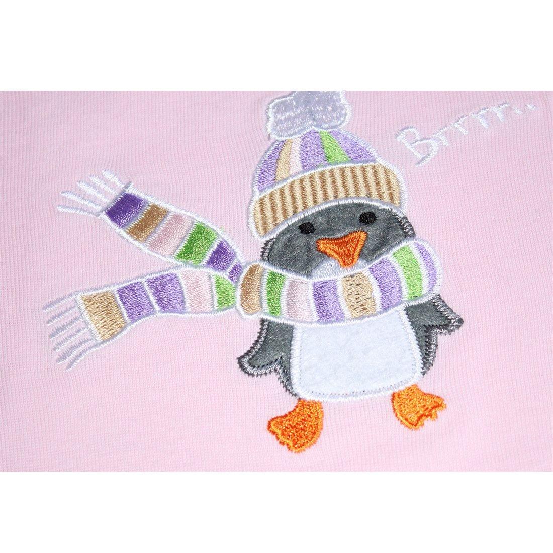 Girls Pajamas Cute Cosy Long Sleeves Toddler Penguin Kids Pjs Sleepwear 2 Piece