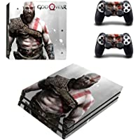 Hytech Plus God of War Theme Sticker for PS4 Pro Console and 2 Controllers (Black)