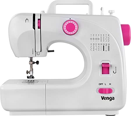 Venga! Máquina de coser compacta, ideal para principiantes, 16 ...