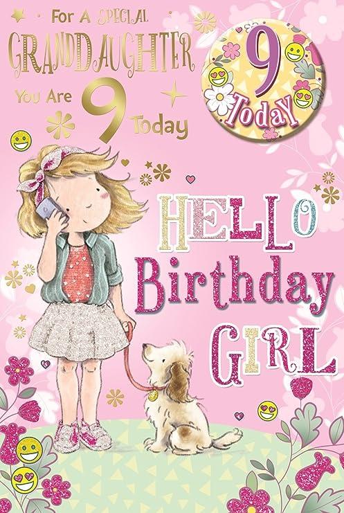 Cards Galore Online Nieta 9th Tarjeta de cumpleaños y placa ...