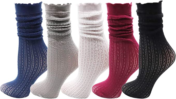 5 Pairs Baby Socks Summers Cotton Mesh Thin Socks Breathable Hollow Lace Socks