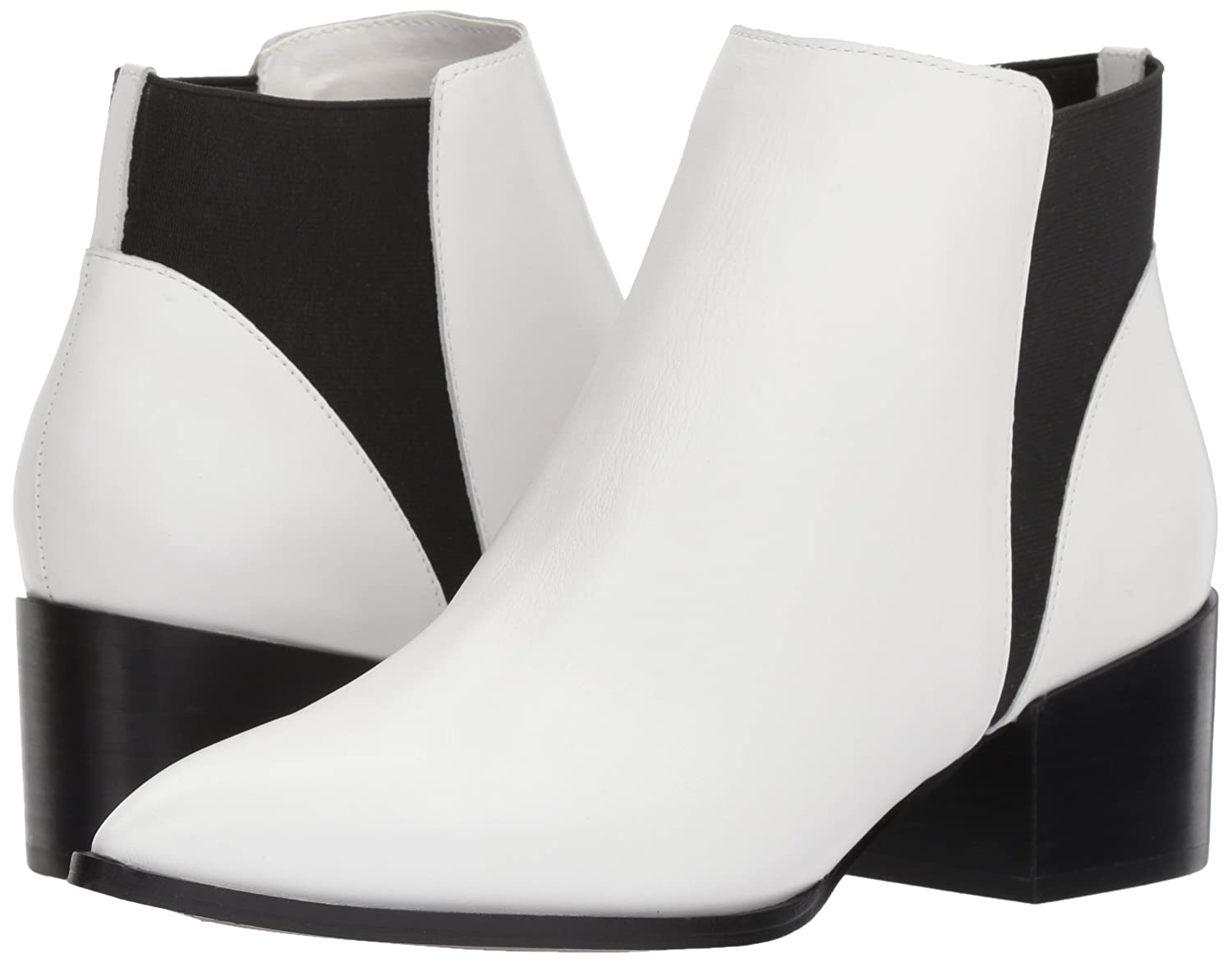Chinese Laundry Women's Finn Ankle Bootie B075ZQ7GZK 8 B(M) US|White Leather