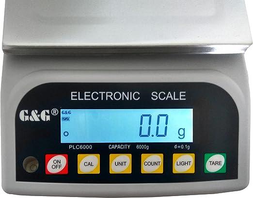 30kg//1g utilizzabile a batteria oro GundG PLC Bilancia di precisione da tavolo per laboratorio industria